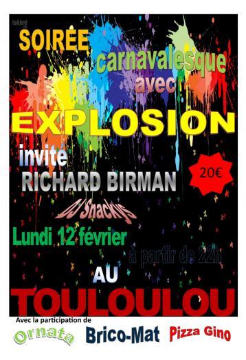 Soirée Carnaval avec Explosion
