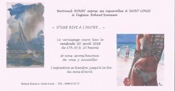 20 avril – 31 avril Expostion du peintre Bertrand Rouby