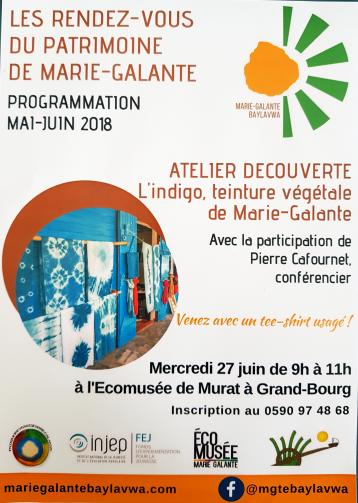 27 juin – Atelier découverte indigo Ecumusée Murat Grand Bourg