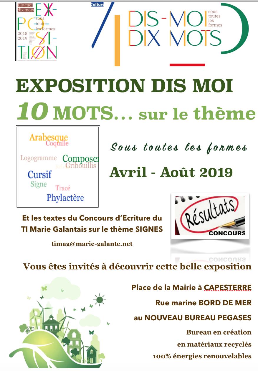 Exposition Dis Moi Dix Mots