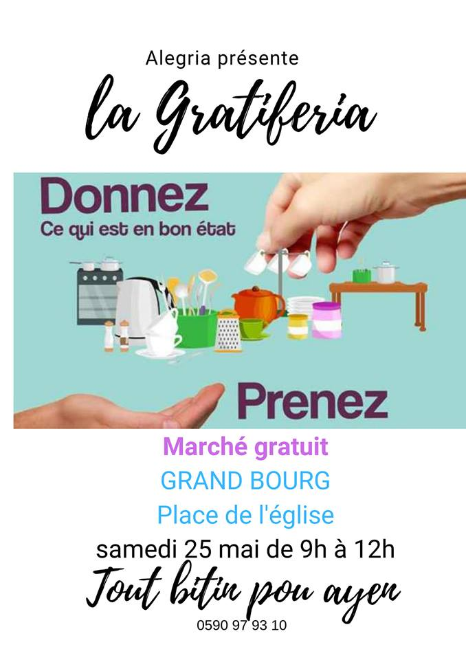 sam 25 Mai – Gratiferia à Grand-Bourg