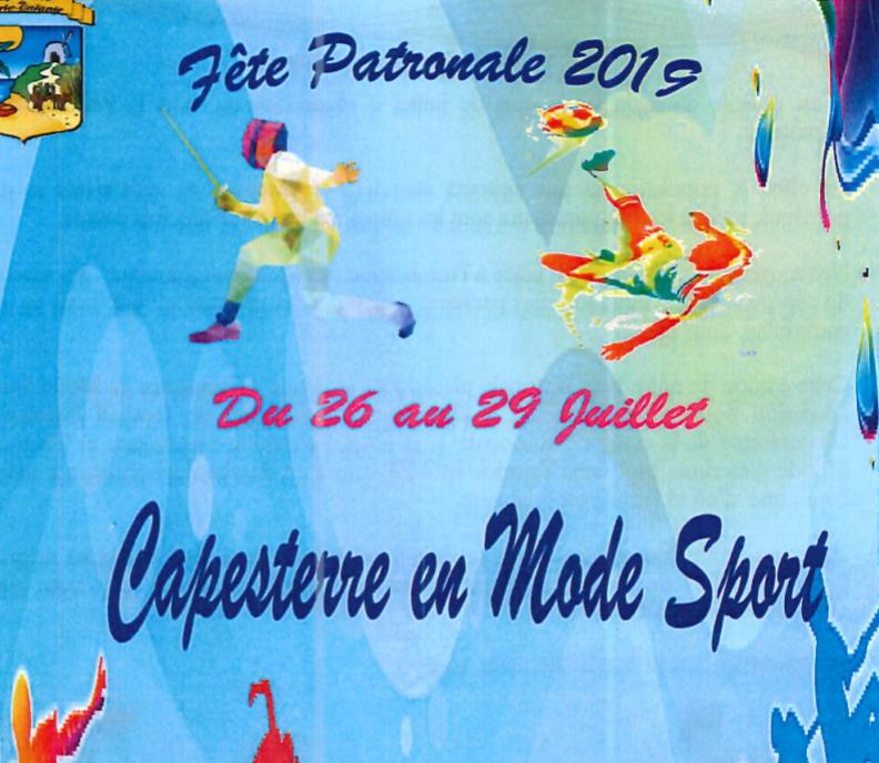 26-29 Juillet 2019 : fête patronale Capesterre M/gte