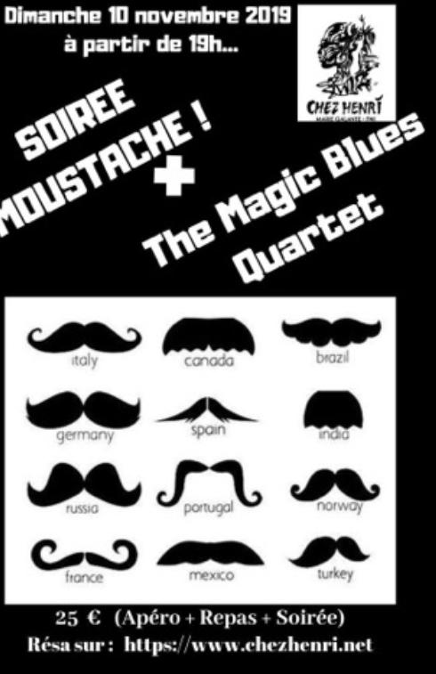 10 novembre – soirée Moustaches Chez Henri