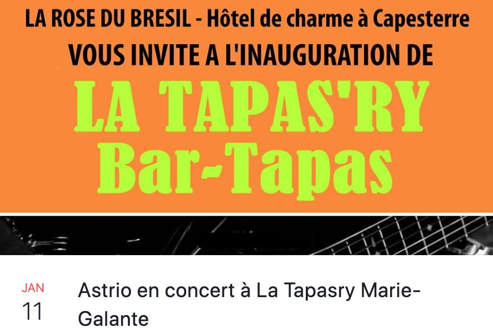 1er & 2 Février  Astrio en concert à Capesterre M/gte