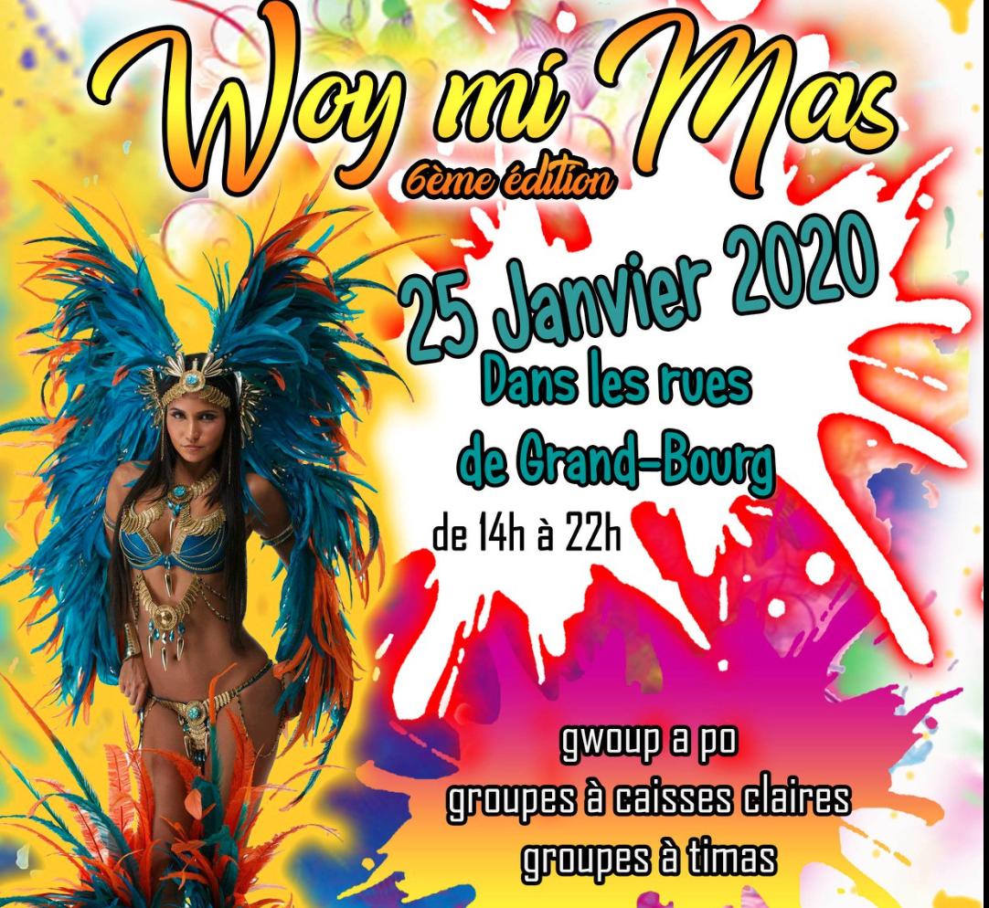 25 janvier – Woy mi mass Carnaval Grand Bourg