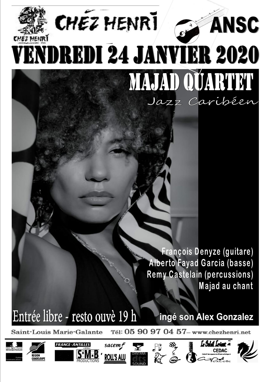 24 Janvier –  Jazz Caribéen Chez Henri avec Majad