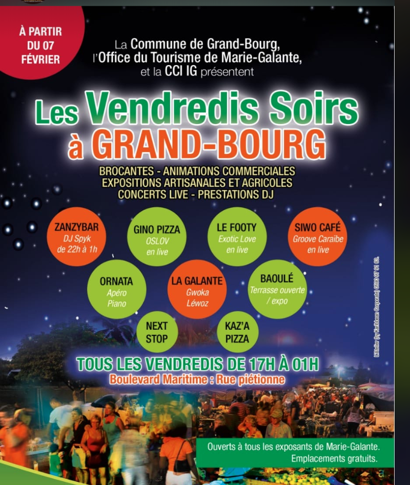 Mars – vendredis animés centre Grand Bourg
